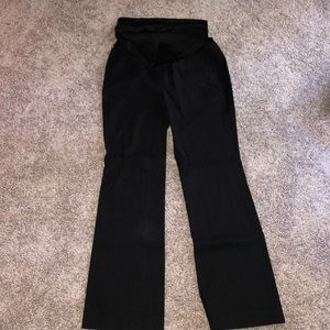 Black loft maternity pants